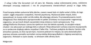 opinia Małgorzaty